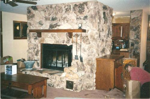 Fireplace in upstairs living room