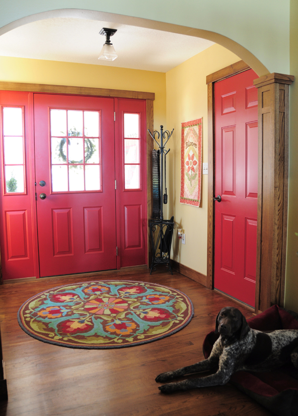 Red Foyer Rug : Baby bump update trends and traditions