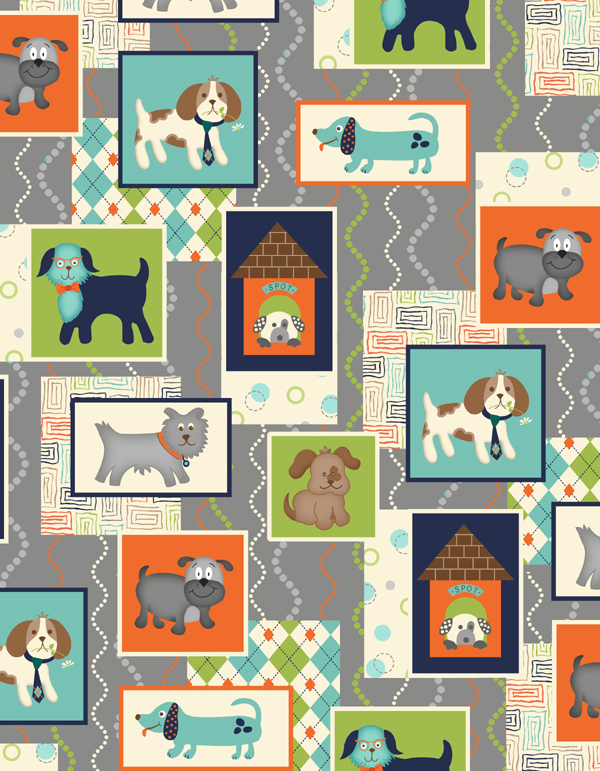 grey puppy panel