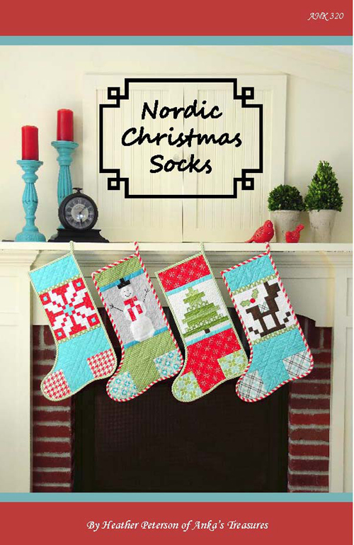 Nordic Christmas Socks Pattern Front 500