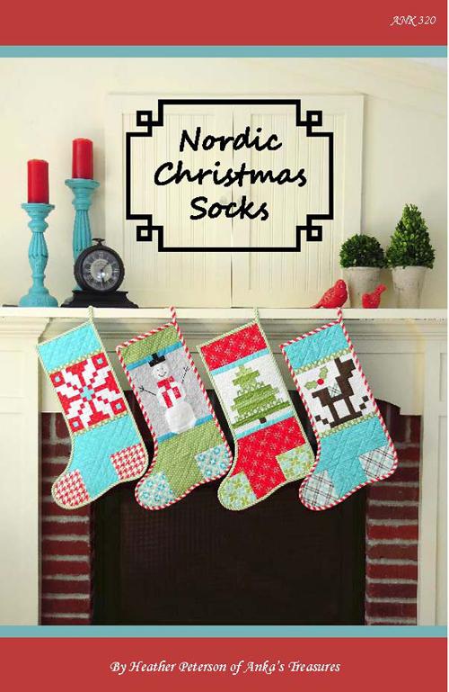 Nordic Christmas Socks Pattern Front 500
